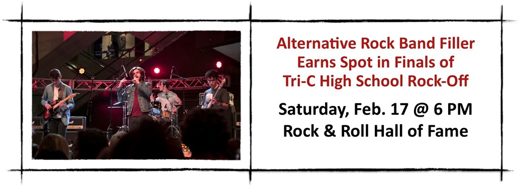 Alternative Rock Band Filler Earns Spot in Finals of  Tri-C High School Rock-Off