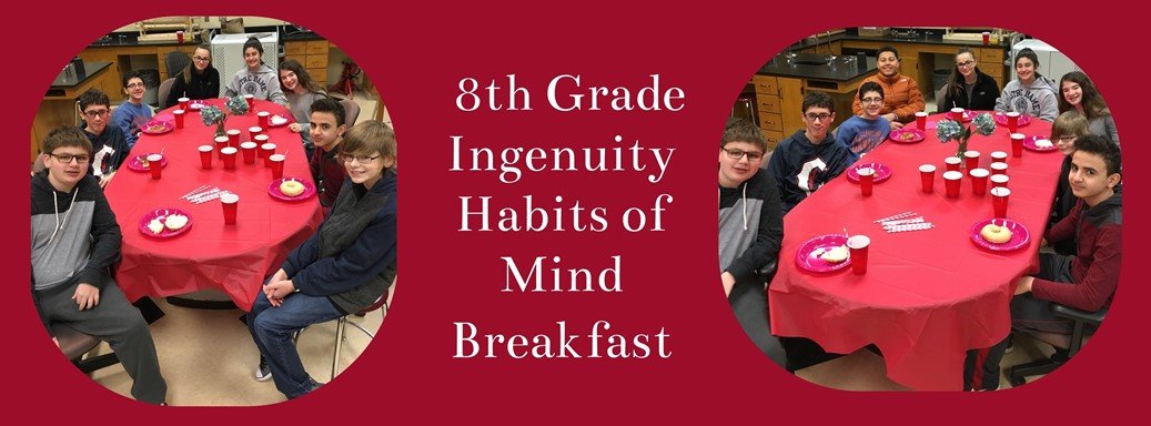 Students eating at a rewards breakfast