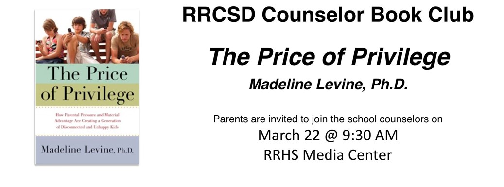 RRCSD School Counselor Book Club, march 22 @ 9:30 AM, RRHS Media Center