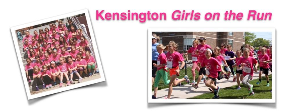 Kensington students participate in Girls on the Run program.