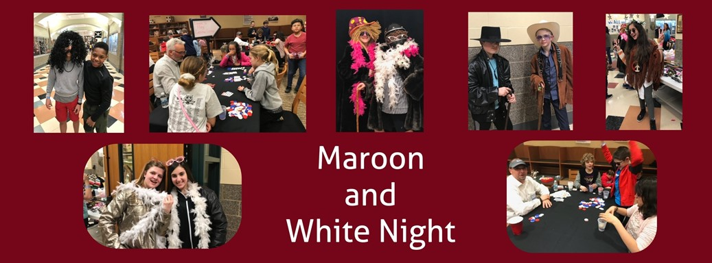 Students dressing up at Maroon and White Night