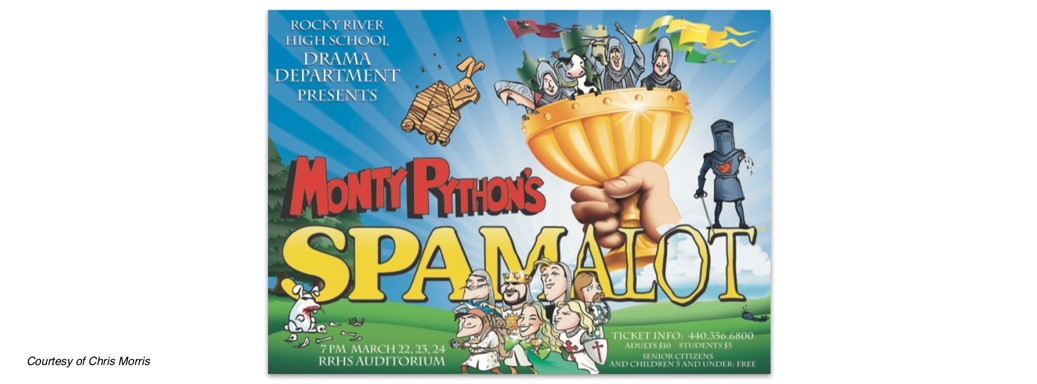 The RRHS Drama Department presents Monty Python Spamalot from March 22-24, 2018.