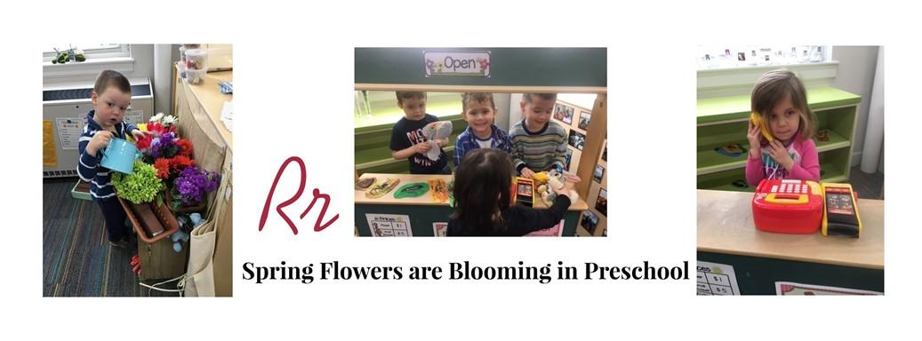 Spring Flowers are Blooming in Preschool