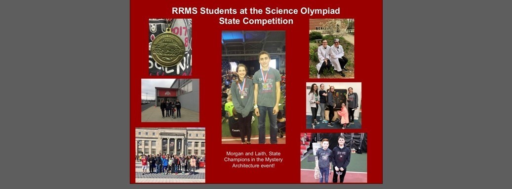 RRMS student at State Science Olympiad Competition: Morgan and Laith, State Champions in the Mystery Architecture event.