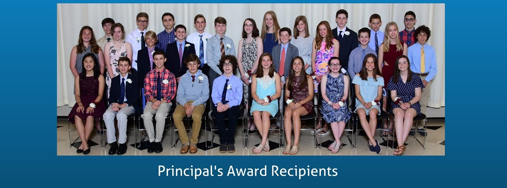 Principal's Award Students honored at a dinner