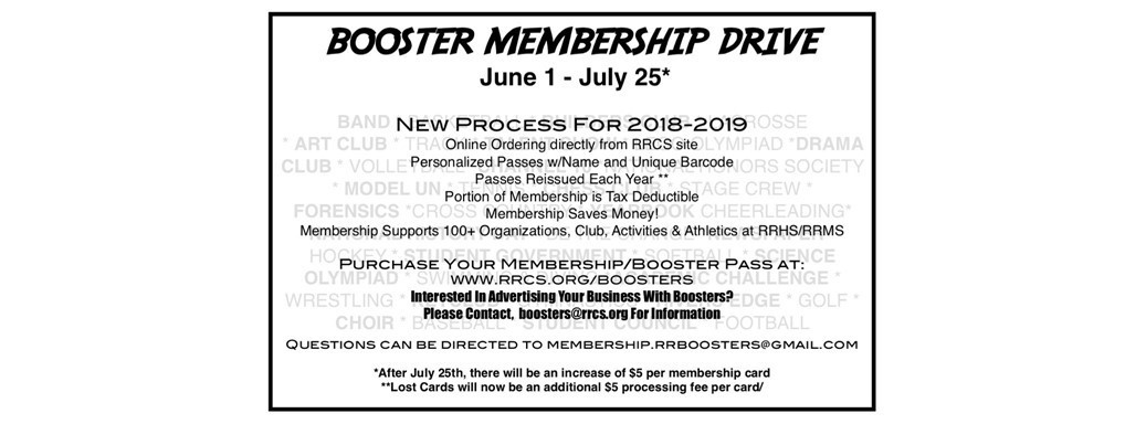 Booster Membership information