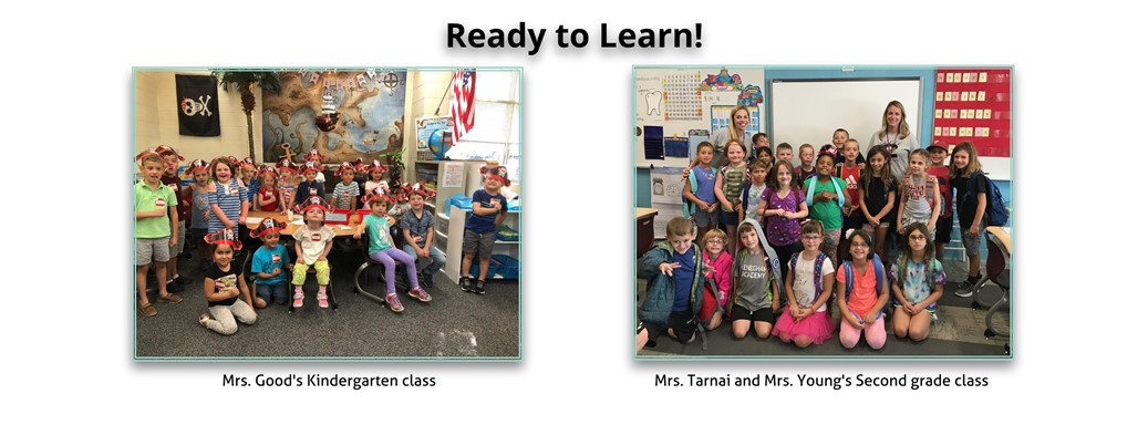 Students are ready to learn in Kindergarten and Second Grade!
