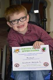 Certificate Award Winner:  Wonderful Attitude!