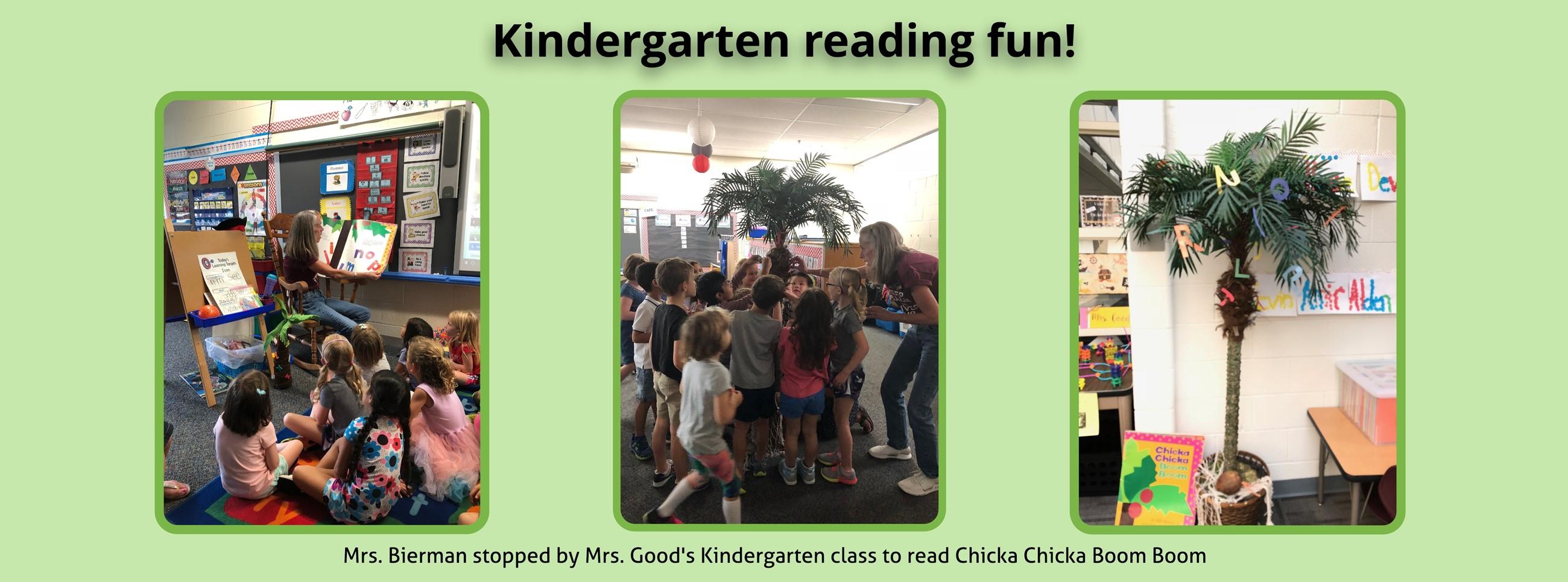 Kindergarten reading fun with Mrs. Bierman