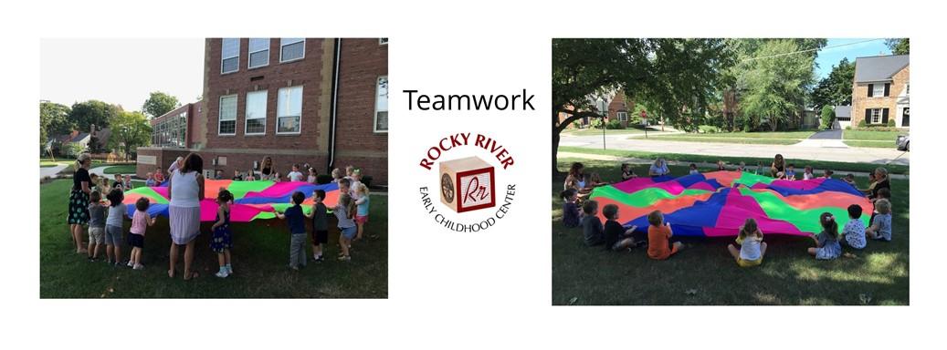 Teamwork with a Parachute