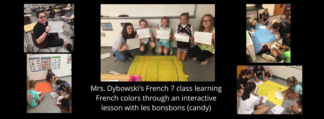 French students learn with candy