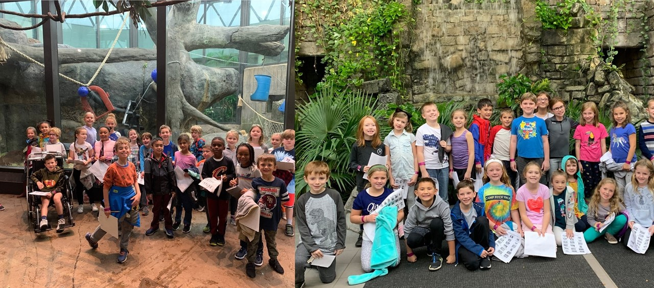 Second grade spends the morning at the Rain Forest