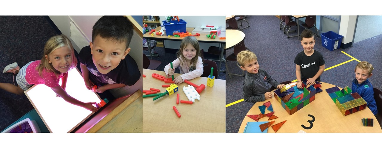 Students having fun creating in Goldwood's Tinker Space