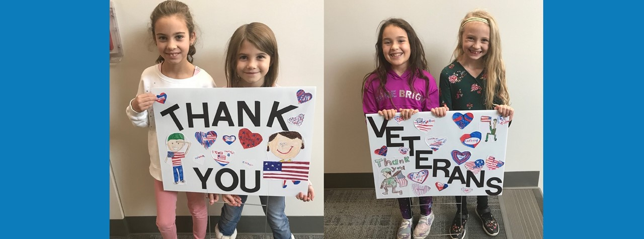 Students say thank you to Veterans for their service