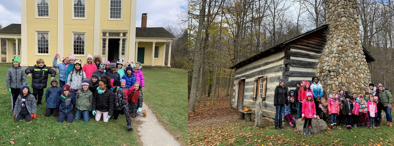 Second Graders enjoy a day at Hale Farm