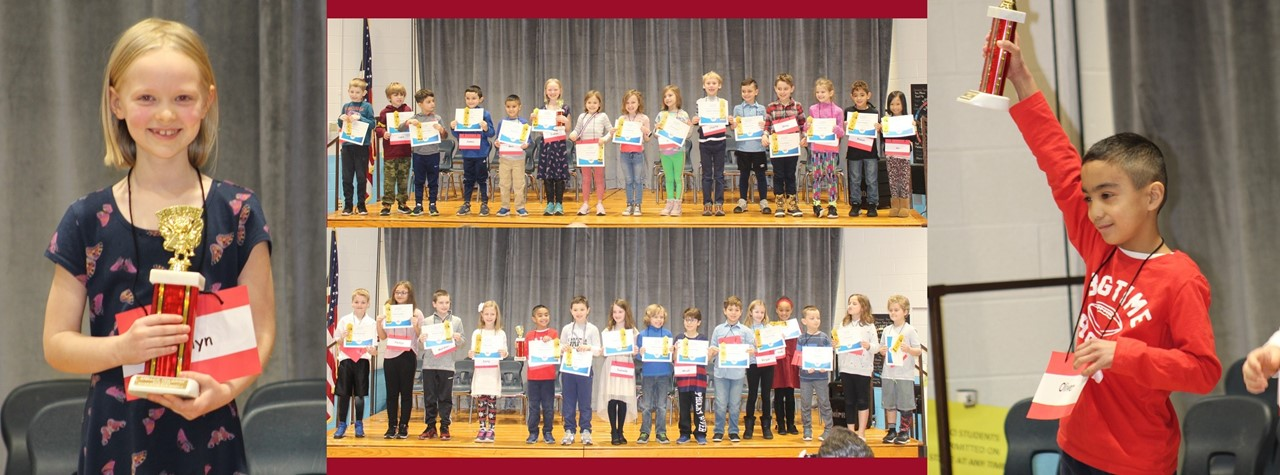 First and Second grade students participate in their Spelling Bees