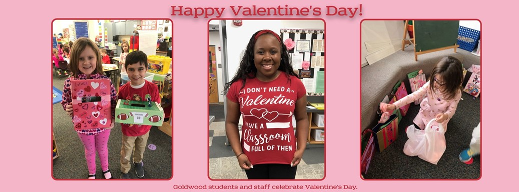 Goldwood students and staff celebrate Valentine's Day.