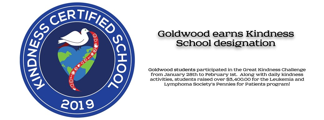 Goldwood earns Kindness School Designation
