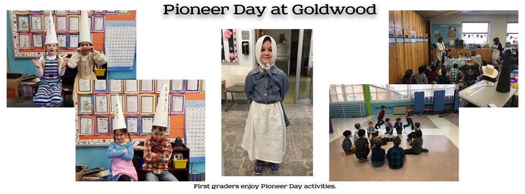 First graders enjoy pioneer activities