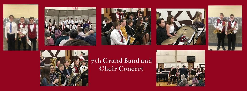 7th grade band and choir