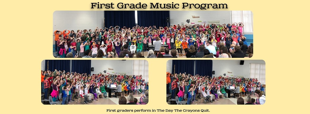 First Graders perform The Day The Crayons Quit