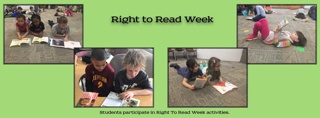 Right to Read Week activities