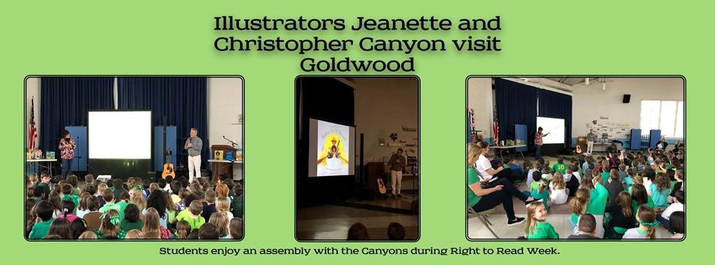 Illustrators visit Goldwood during right to read week