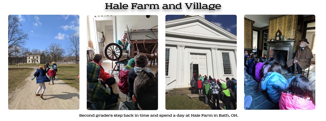 Second graders step back in time and spend the day at Hale Farm in Bath, OH.