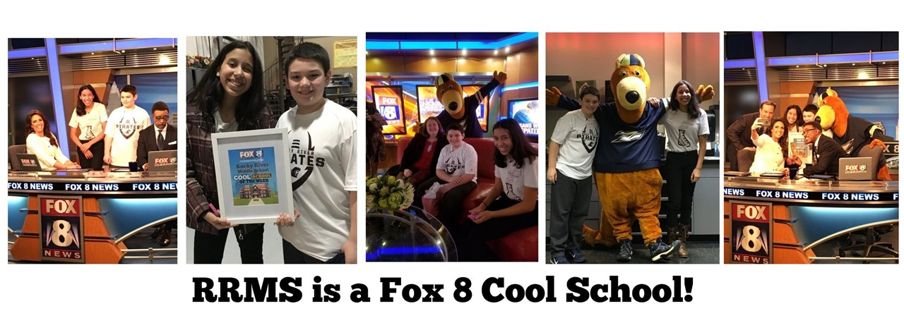 Students at Fox 8 news for being at Cool School