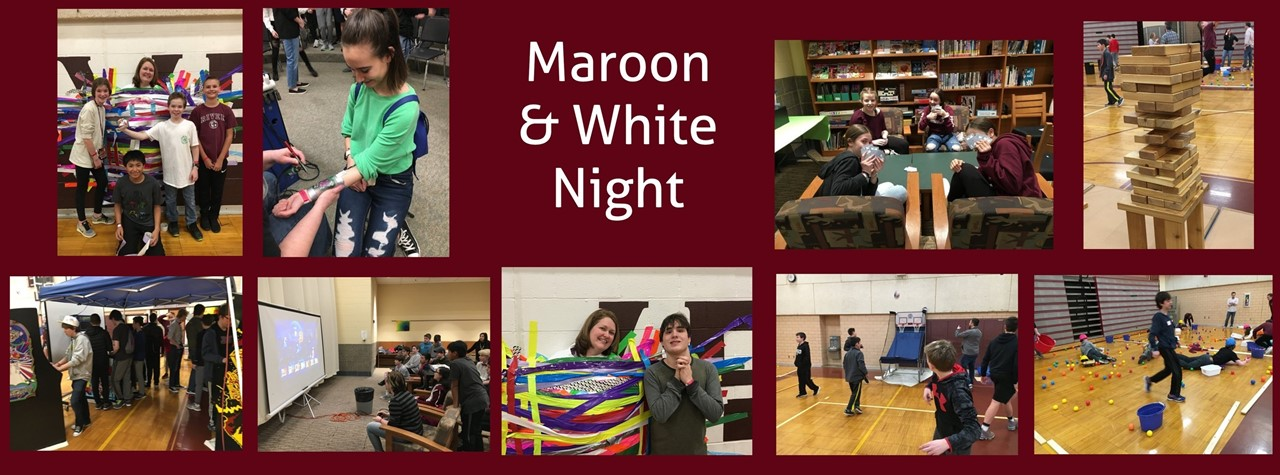 students at maroon and white night