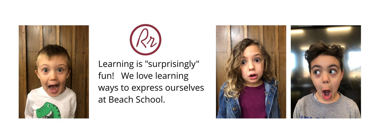"Learning is ""surprisingly"" fun!  We love learning ways to express ourselves at Beach School."