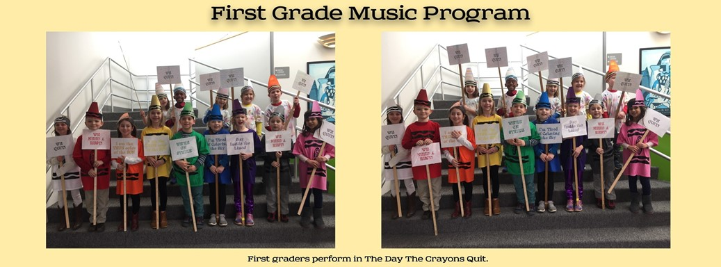 First Grade performs The Day The Crayons Quit