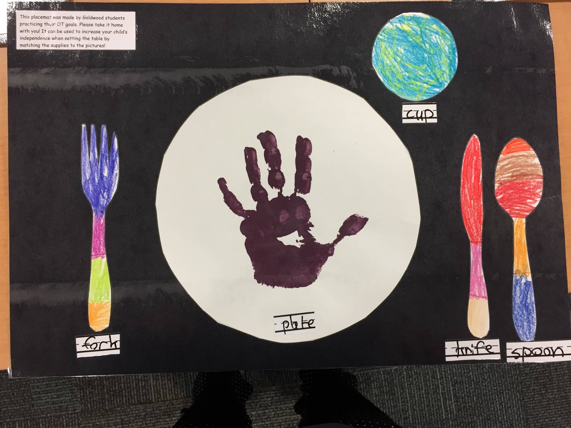 Goldwood Students Created the Placemats!