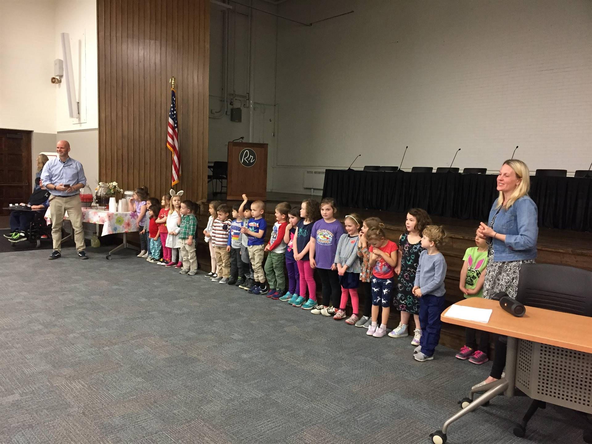 Preschool Students Performed Songs at the Lunch and Learn