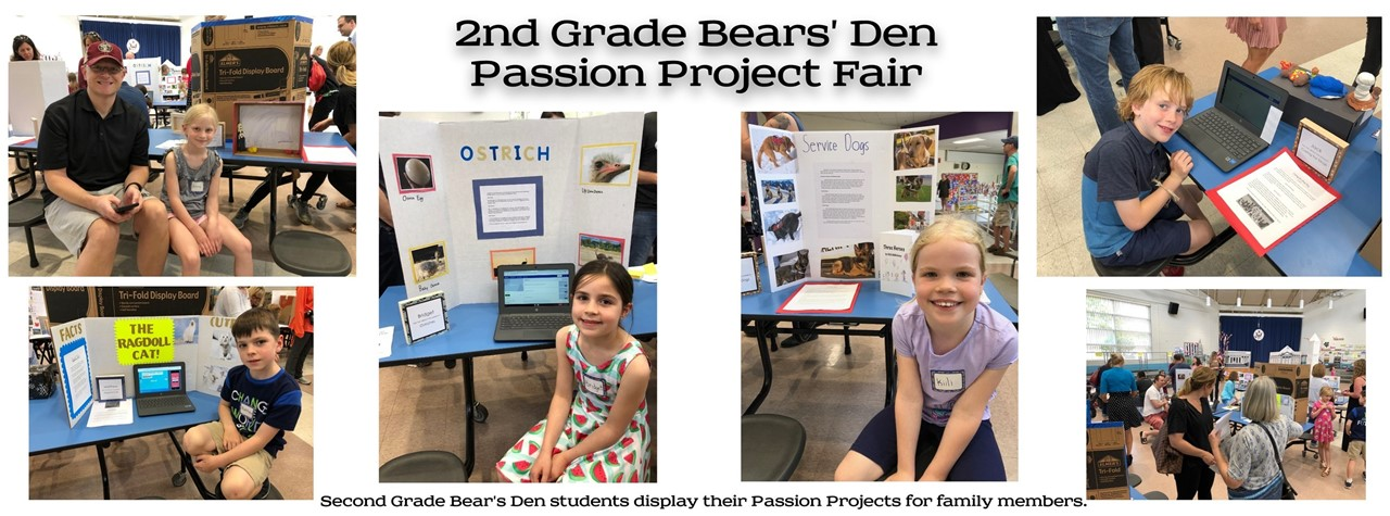2nd Grade students show off their projects to family and staff