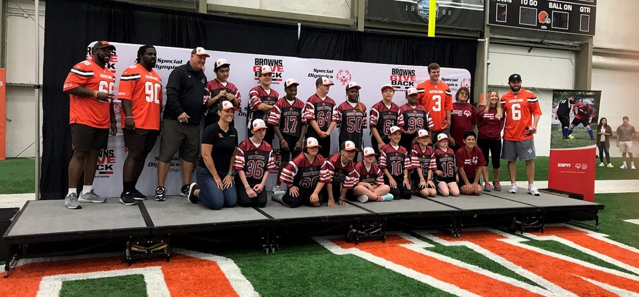 Team Unify Visits Cleveland Browns Camp