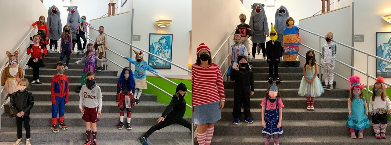 Students and staff dress up for Halloween