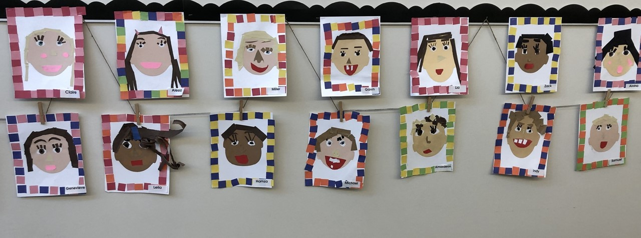 Ms. Zellers' class creates masterpieces of self portraits