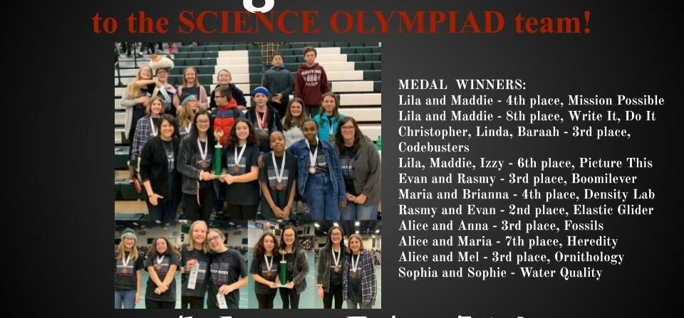 Congratulations Science Olympiad for Finishing 7th Place Overall at Westlake!
