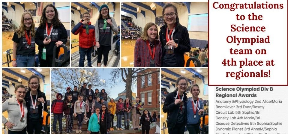 Science Olympiad p;aces 4th at regionals