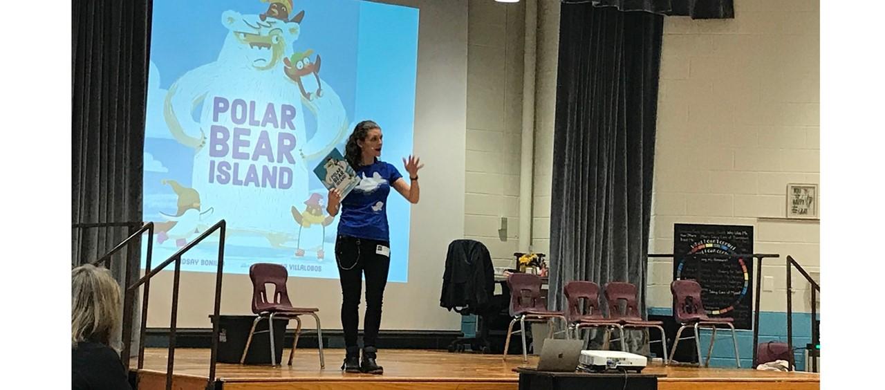 Author Lindsay Bonilla hosts assemblies at Goldwood courtesy of the PTA.